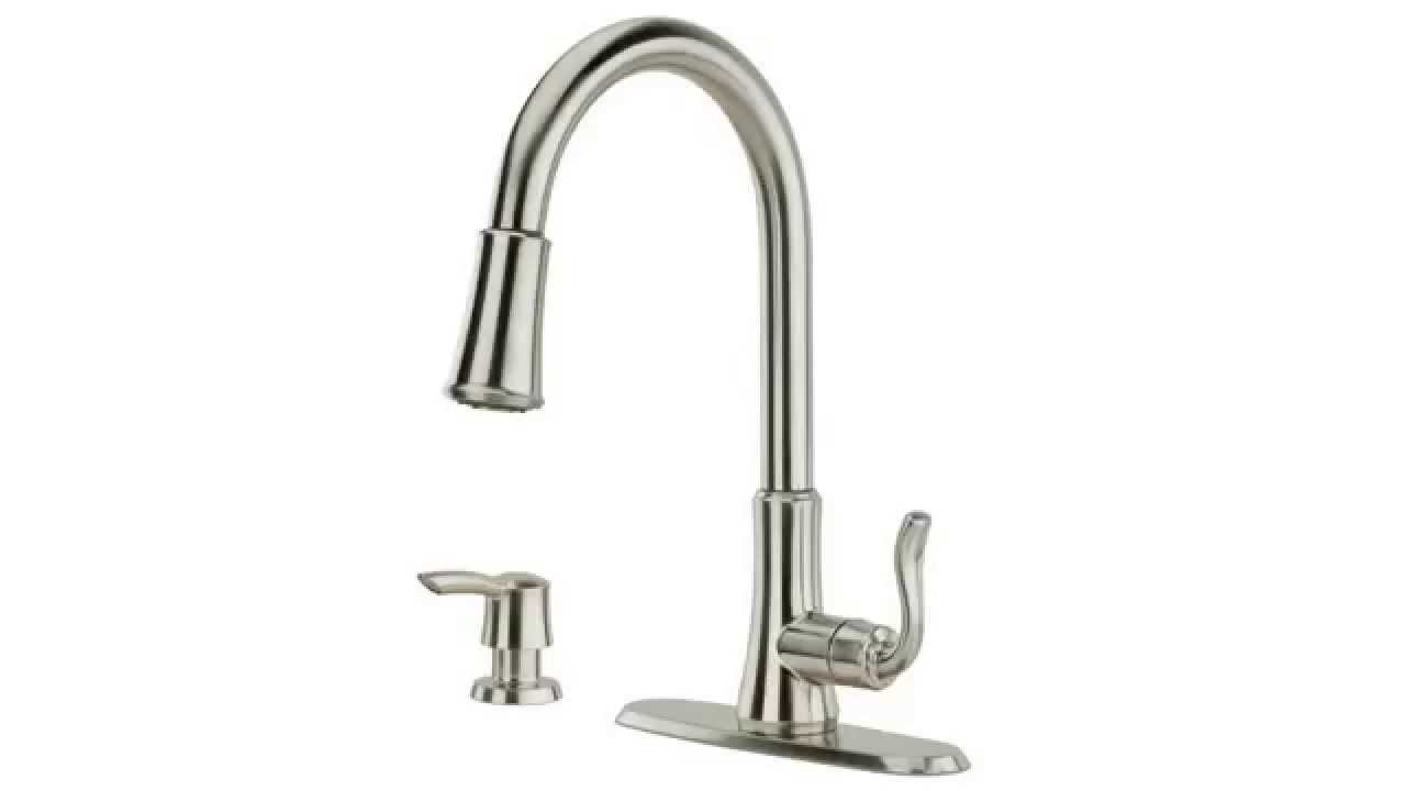 Pfister Pfirst Series 1 Handle Pull Down Kitchen Faucet, Stainless Steel