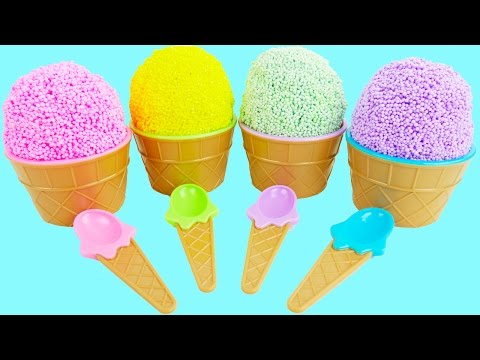 Thumbnail: Learn Colors Foam Ice Cream Surprise Toys Baby Body Paint Finger Family Nursery Rhymes Toy Egg Video