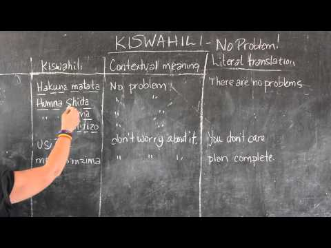 Video #7- GO! presents: BEST Swahili Tutorials - NO PROBLEM! (live from Tanzania)