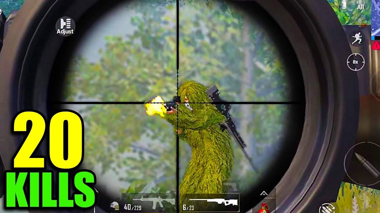 WATCH THIS BEST AWM SHOT 😍   20 KILLS SOLO VS SQUAD   PUBG MOBILE LITE