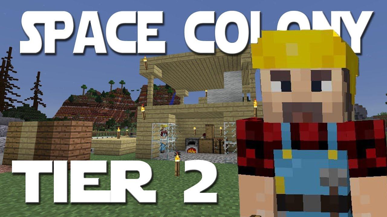 Minecolonies Space Colony ep 4 - Tier 2 Builder's Hut