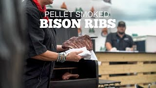 Bison Ribs With The Salt Lick BBQ