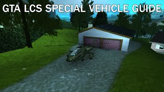 GTA LCS Special Vehicle Guide: Unique/AP Hunter (PS2 and PSP Only)