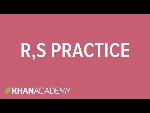 R S System Practice Stereochemistry Organic Chemistry