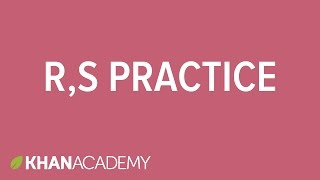 R,S system practice | Stereochemistry | Organic chemistry | Khan Academy