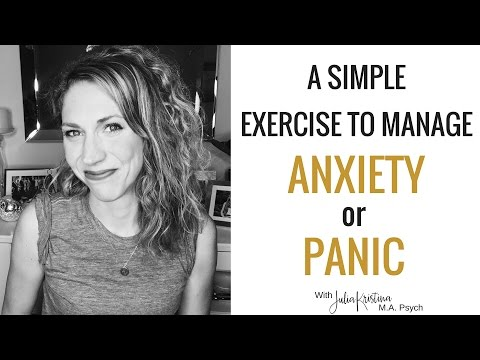 A Simple Grounding Exercise for Dealing with Anxiety or A Panic Attack