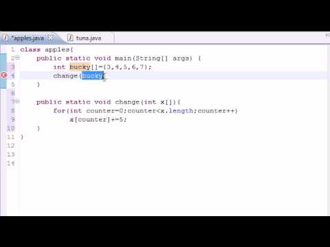 java-programming-tutorial---32---arrays-in-methods