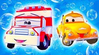 Автомойка Эвакуатора Тома и Скорая помощь Эмбер | Мультфильмы с машинками для детей