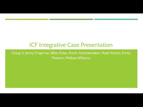 Group 3 ICF Integrative Case Presentation