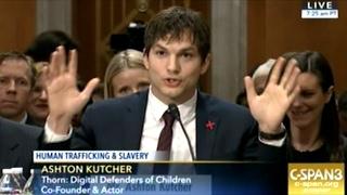 Actor Ashton Kutcher Testifies To The Senate On Modern Day Slavery and Human Trafficking