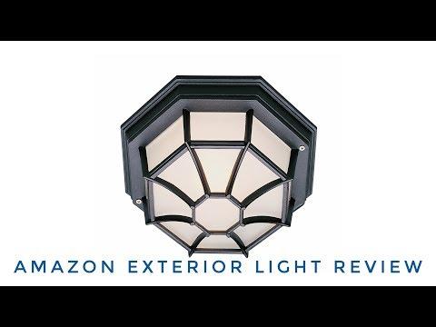 $15 Amazon Outdoor Fixture!! ► Exterior Light Fixture Unboxing ◄ Flushmount Globe Lantern