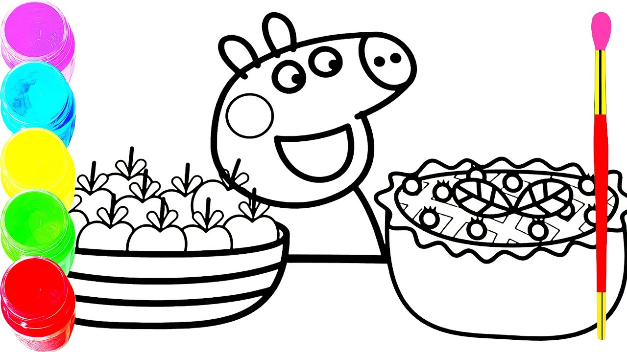 Download Peek a Boo Song Nursery Rhymes song for Kids   Peppa Pig Coloring Pages