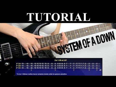 Cómo tocar Lost in hollywood de System of a down (Tutorial de guitarra) / How to play