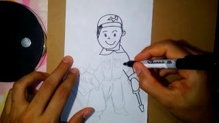 como dibujar un plomero-how to draw a plumber 2