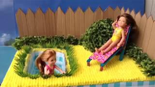 Как сделать сад для кукол монстер хай и барби своими руками Мастер класс
