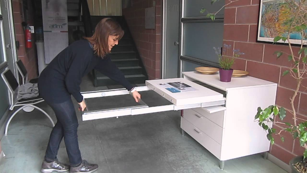 Pull Out Kitchen Table Frame - 1450mm With Legs - YouTube