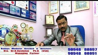 About Ramya Modular Kitchen & Interiors, Interview by an RAJ TV   P - 2