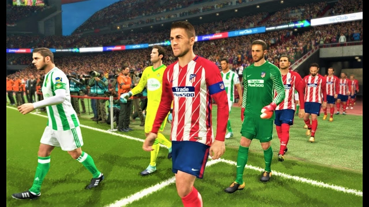 Pes  Atletico Madrid Vs Real Betis Gameplay Pc