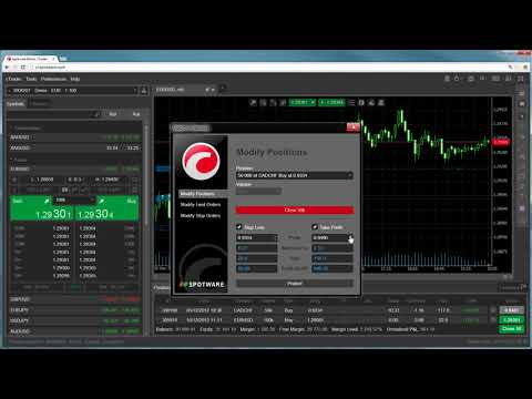 cTrader Web - Modify Positions and Orders