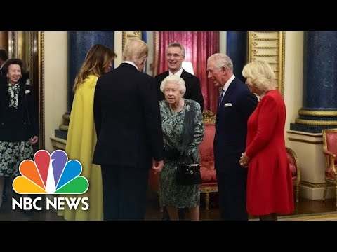 See Queen Welcome President Donald Trump To Buckingham Palace (NBC News)