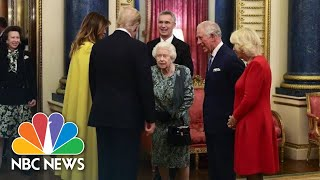 Queen Welcomes President Donald Trump To Buckingham Palace | NBC News