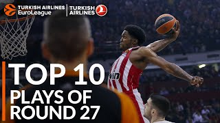 Turkish Airlines EuroLeague Regular Season Round 27 Top 10 Plays
