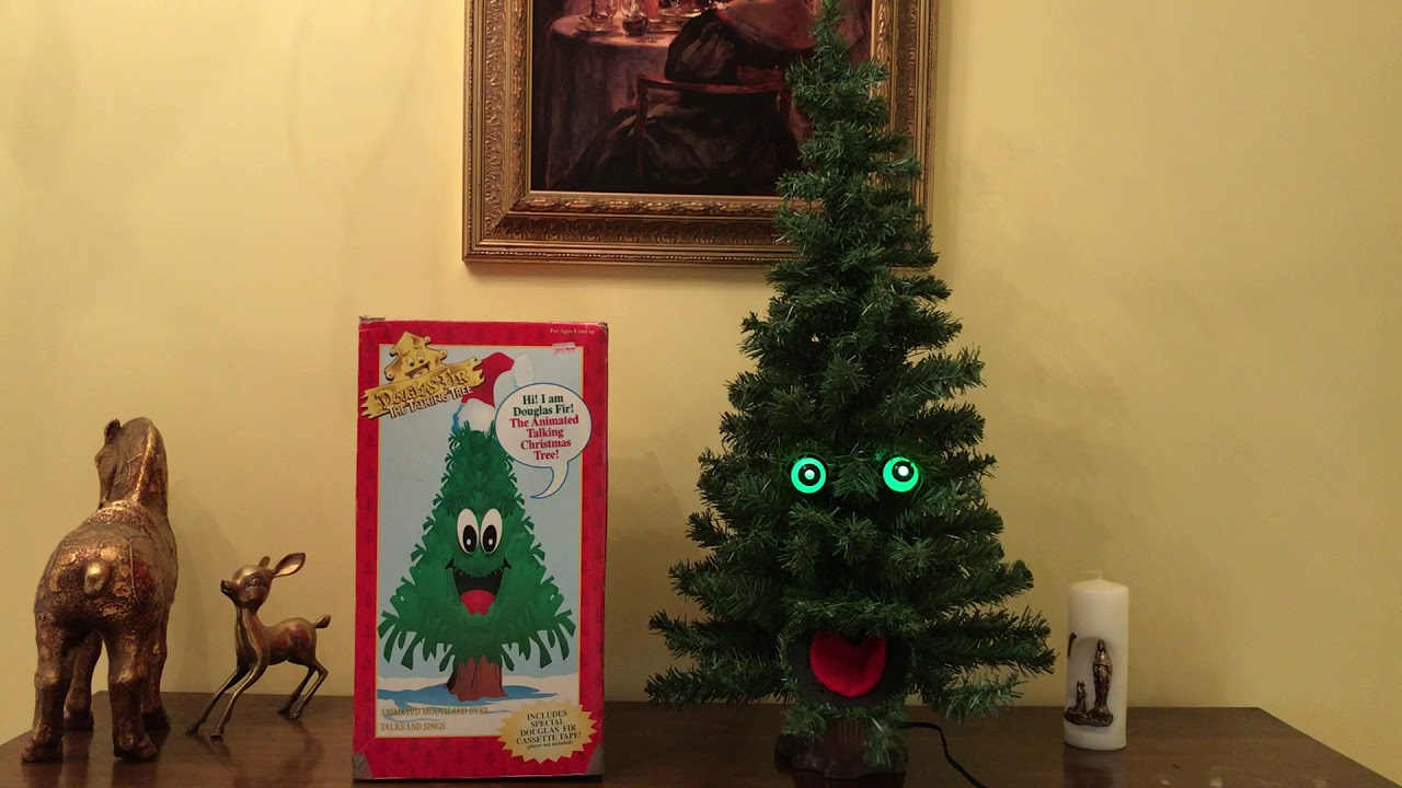 gemmy animated douglas fir the talking christmas tree 3ft. Black Bedroom Furniture Sets. Home Design Ideas