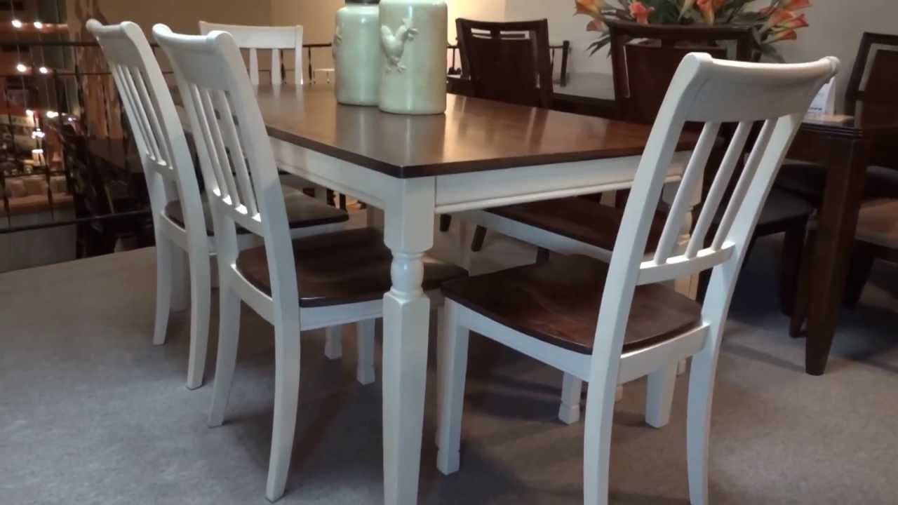 & Ashley Whitesburg Rectangular Dining Table Set Review - YouTube