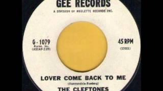 Watch Cleftones Lover Come Back To Me video