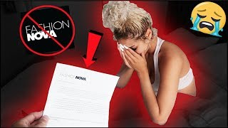 FASHIONNOVA CANCELLED YOUR CONTRACT PRANK! *HILARIOUS*