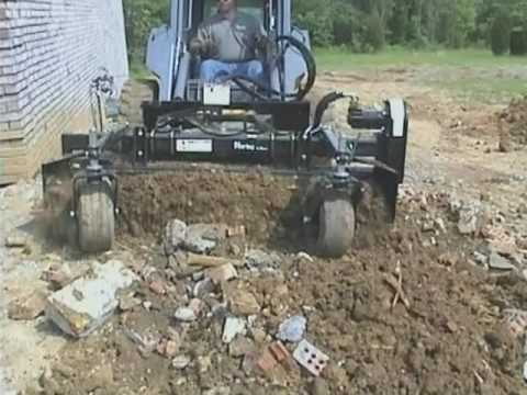 vermeer s800tx mini skid steer with harley rake attachment doovi