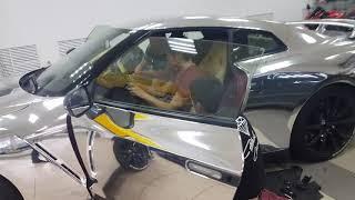 Хромовый Nissan Gtr 35 полный фарш  музыка  стейдж2 выхлоп винил