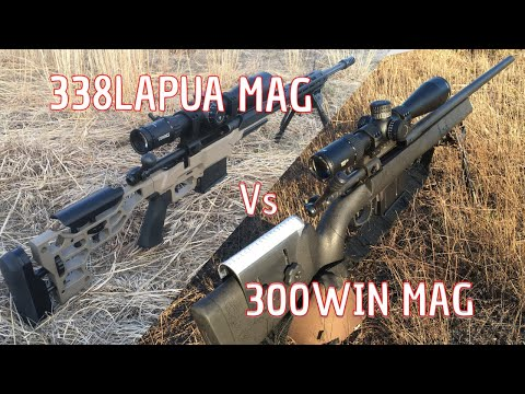 Long range shooting 338 Lapua Mag vs 300 Win mag - YouTube