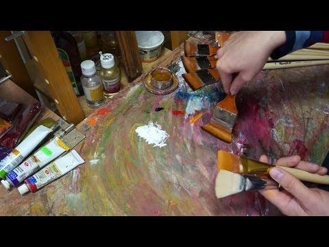 Модернизация кистей. Технические советы в масляной живописи. Modernization of artistic brush