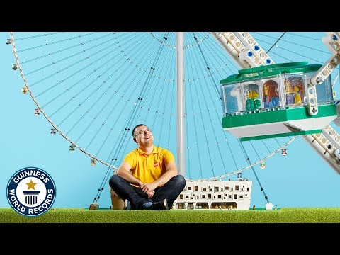 He Built a LEGO® Ferris Wheel from 40,000 Bricks! - Meet The Record Breakers