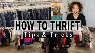 How To Thrift | 10 Tips For Thrifting + Upcycling Thrift DIY | Thrift With Me