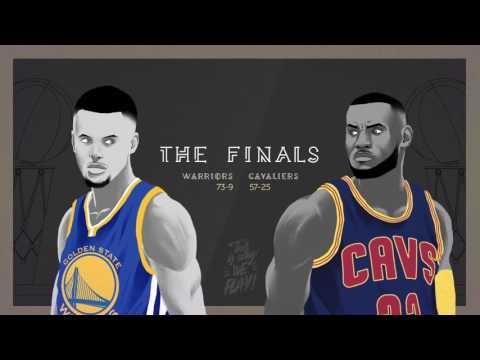 NBA FINALS 2016 - CAVALIERS vs WARRIORS - Animation