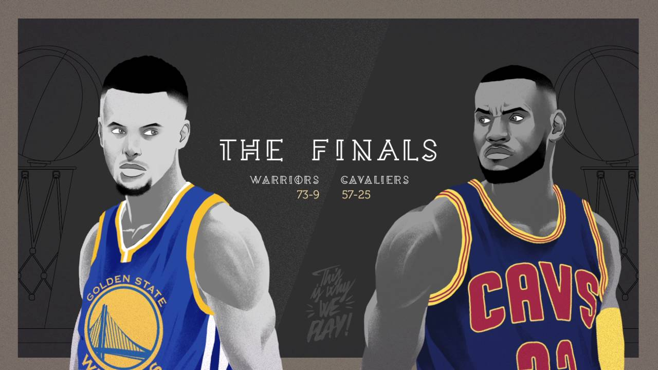 NBA FINALS 2016 - CAVALIERS vs WARRIORS - Animation - YouTube
