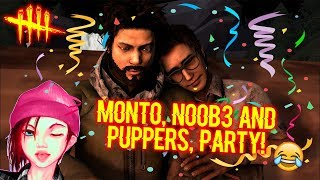 Monto, No0b3 and Puppers, Party! - Survivor Gameplay - Dead By Daylight
