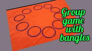 Collect the bangles//Group game with luck (चूड़ियों का मजेदार गेम)।