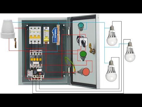 Ящик управления освещением.