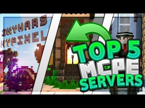 Top 5 MCPE Servers 2020 1.14+ / Skywars, Skyblock, Hypixel, UHC / Minecraft Bedrock Edition