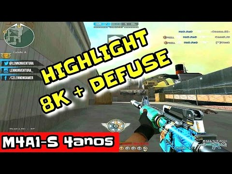 HIGHLIGHT 8KILLS + DEFUSE | M4A1-S 4ANOS | CROSSFIRE AL 2.0