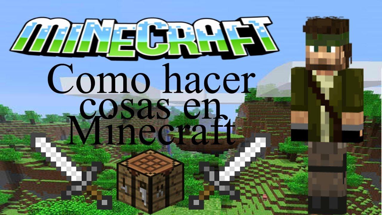 Como hacer cosas en minecraft youtube for Como hacer muebles en minecraft