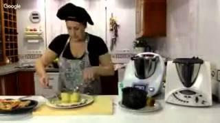 Video 2 Rodaballo y Langostinos Jumbo de Mozambique en Salsa Verde Con Verduras al Vapor con Ther…