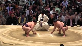 豪栄道 vs 豪風の取組。2015春場所6日目。現地オリジナル撮影。 Grand S...