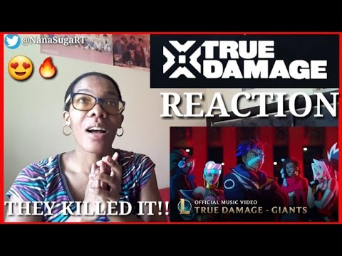 True Damage - GIANTS (ft. Becky G, Keke Palmer, SOYEON, DUCKWRTH, Thutmose)   (LoL)   REACTION 🔥