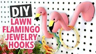 DIY Lawn Flamingo Jewelry Hooks - HGTV Handmade