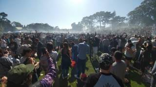 Golden Gate Park Hippie Hill 4:20 4/20/2017 4K