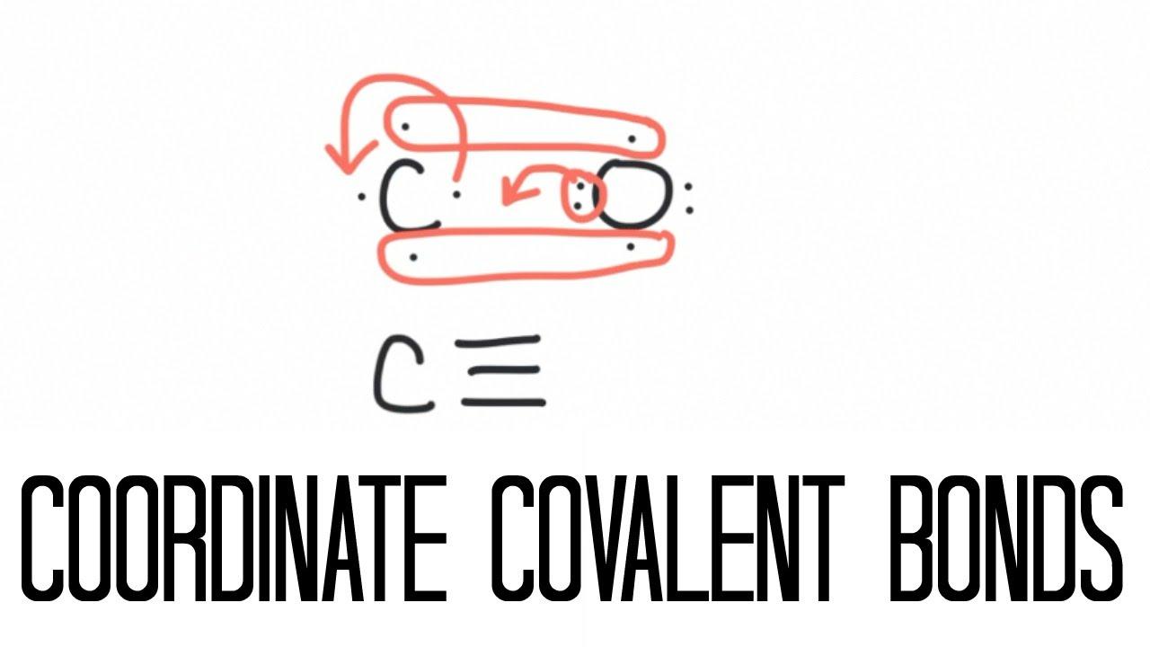 coordinate covalent bonding carbon monoxide  [ 1280 x 720 Pixel ]